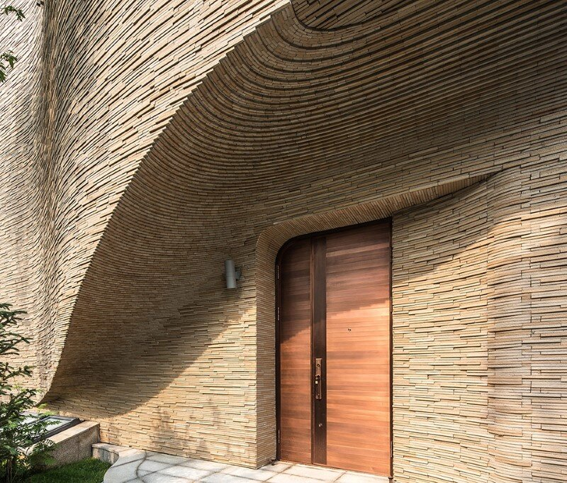 Villas complex with stunning sculptural facades (4)