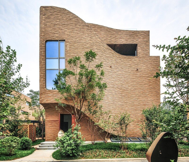 Villas complex with stunning sculptural facades (6)