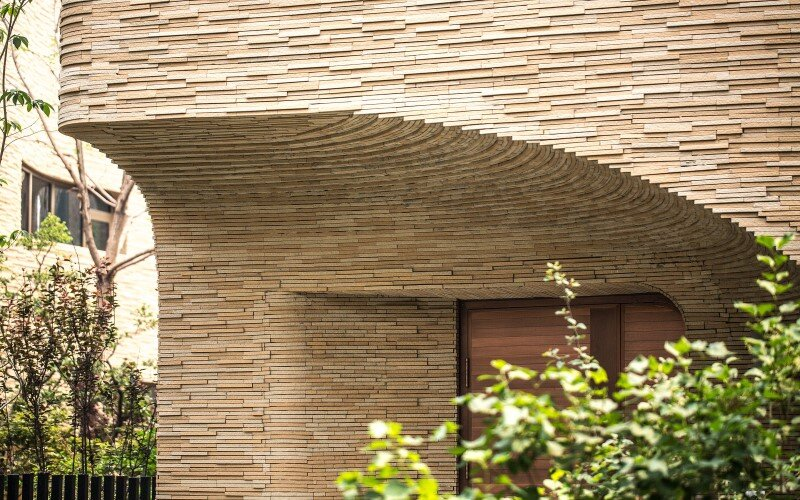 Villas complex with stunning sculptural facades (8)