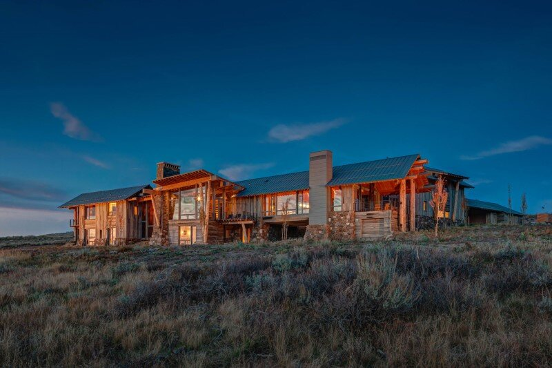 Wolf Creek Ranch - Log Home with traditional ranch architecture (2)
