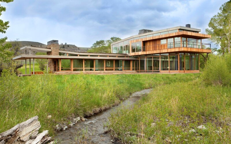 Big Timber Riverside House - Montana ranch by Hughesumbanhowar Architects (14)