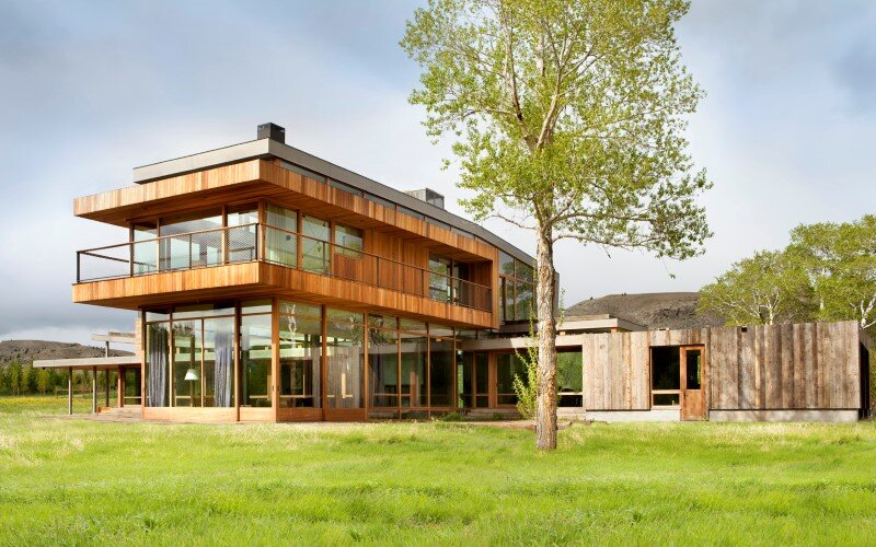 Big Timber Riverside House - Montana ranch by Hughesumbanhowar Architects (2)