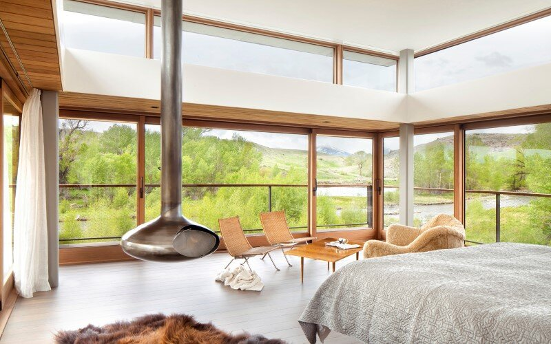 Big Timber Riverside House - Montana ranch by Hughesumbanhowar Architects (9)
