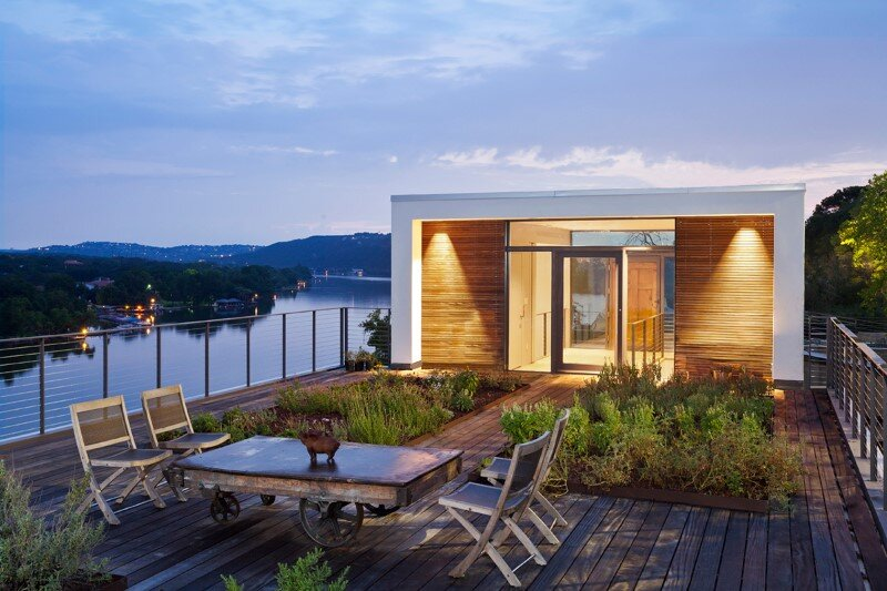 Cliff Dwelling is a Residential Renovation with a Cliff-Side View Over Lake Austin