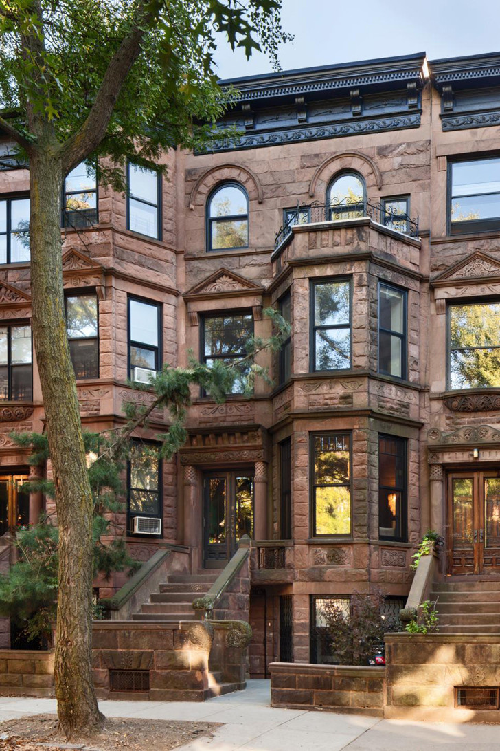 Complete renovation of a 4 story romanesque revival house for 4 story house
