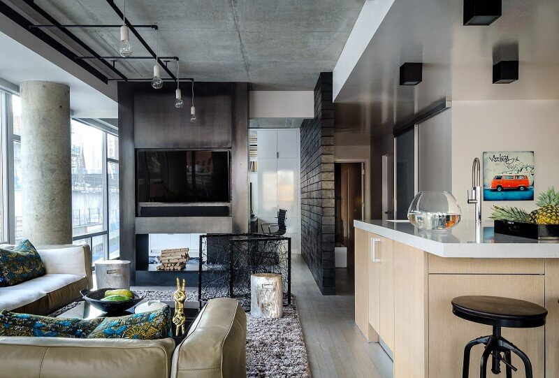Concrete Jungle Apartment in River North Chicago by Project Interiors (5)