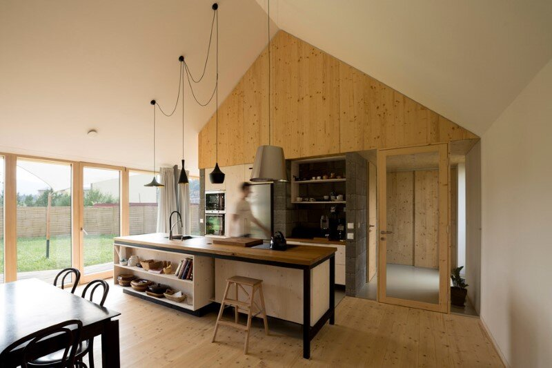 DomT Wood House in Stara Lubovna inspired by the architecture of wooden barns (11) (Custom)