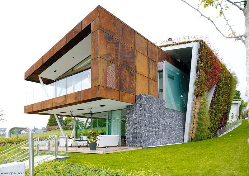 Eco friendly house design - Villa Jewel Box with an multifaceted garden outer shell (1)