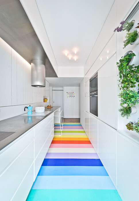 Fashionable  Parisian Apartment that has a Mini Vertical Garden in the Kitchen  (10)