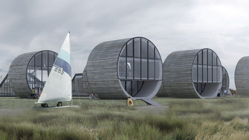 Futuristic architecture - 12 single family rolling homes by Do Architects (1)
