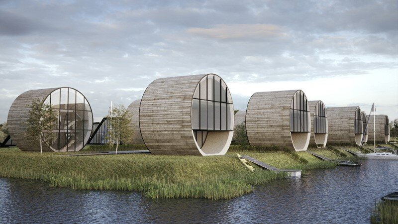 Futuristic architecture –  12 single family rolling homes by Do Architects