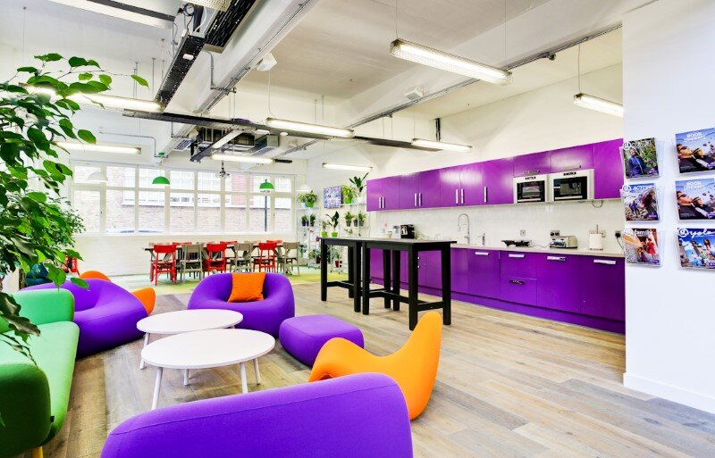 G Adventures offices in London by Area Sq