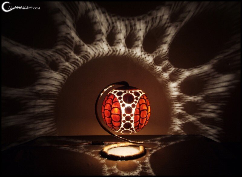 Handcrafted gourd lamps by Calabarte (9)