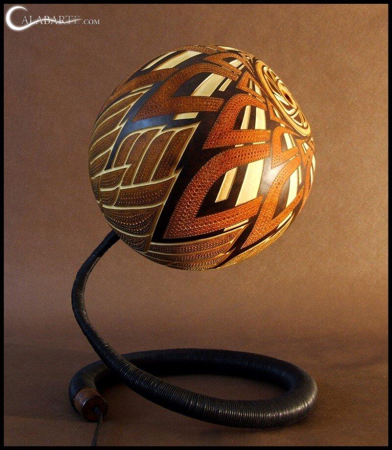Handmade gourd lamp by Calabarte (11)