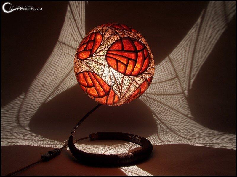 Handmade gourd lamp by Calabarte (4)