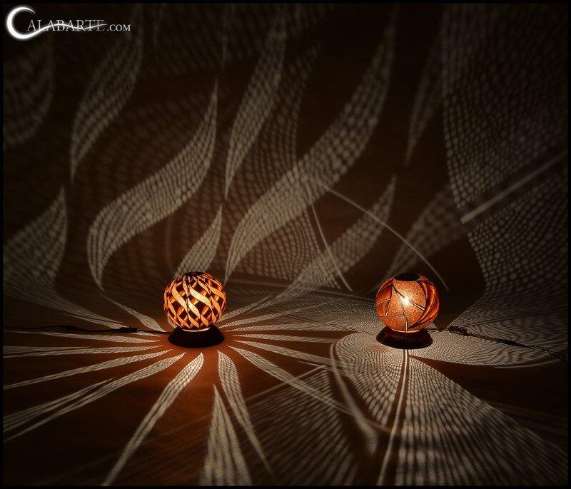 Handmade gourd lamp by Calabarte (5)