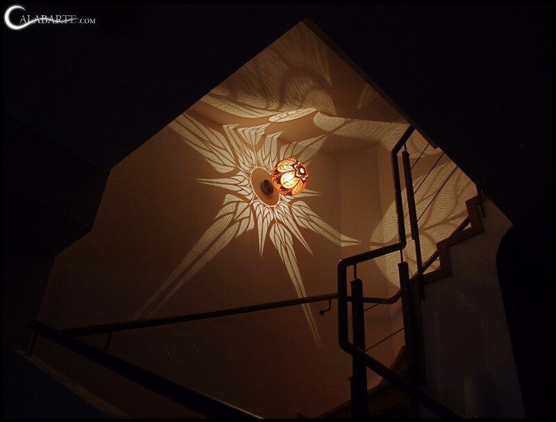 Handmade gourd lamp by Calabarte (6)