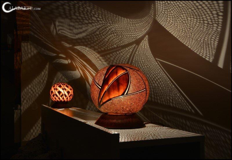 Handmade gourd lamp by Calabarte (7)