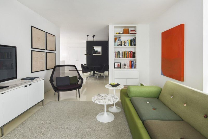 Harrison Avenue apartment with a colorful panelized felt wall (2)