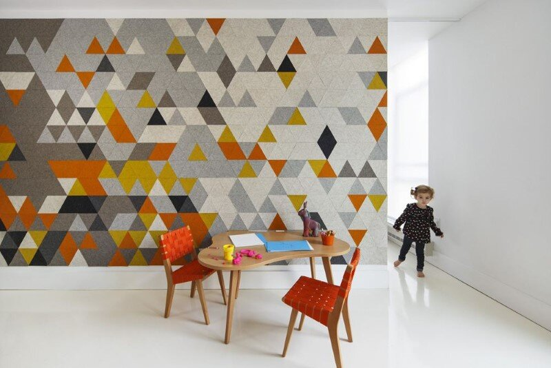 Harrison Avenue apartment with a colorful panelized felt wall (9)