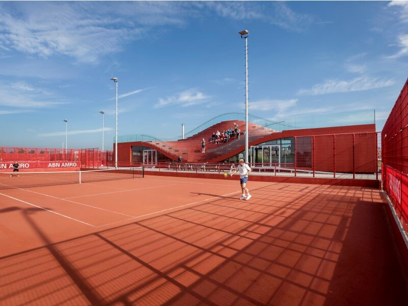 Iconic club house architecture for IJburg Tennis Club Amsterdam (11)