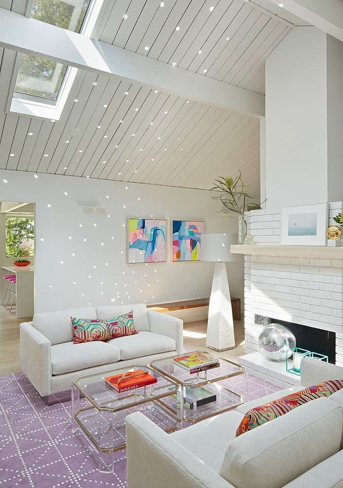 Minimal Modern Design Meets Disco in This Palo Alto Eichler House (9)
