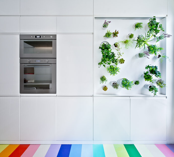 Modern Parisian Apartment that has a Mini Vertical Garden in the Kitchen  (12)