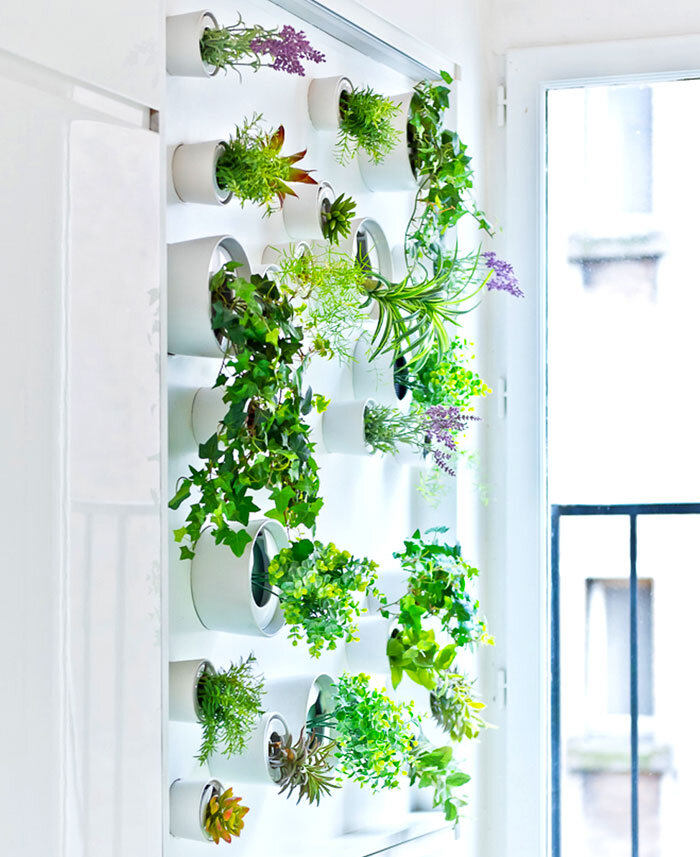 Modern Parisian Apartment that has a Mini Vertical Garden in the Kitchen  (20)