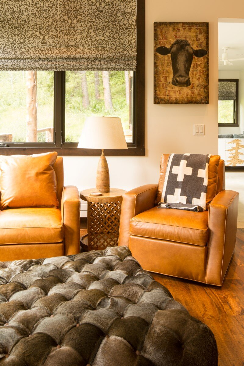 Modern farmhouse in the woods: Old Pass Road, Wilson, Wyoming