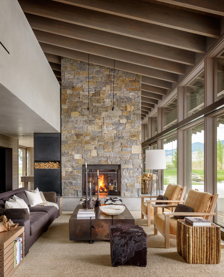 Montana ranch house by suyama peterson deguchi - Modern ranch home interior design ...
