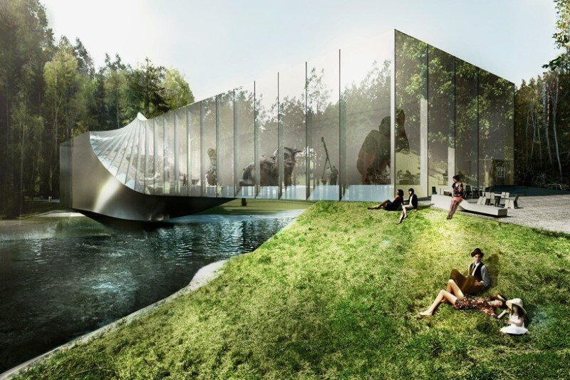 Museum building for Kistefos Sculpture Park - Bjarke Ingels Group   (1)
