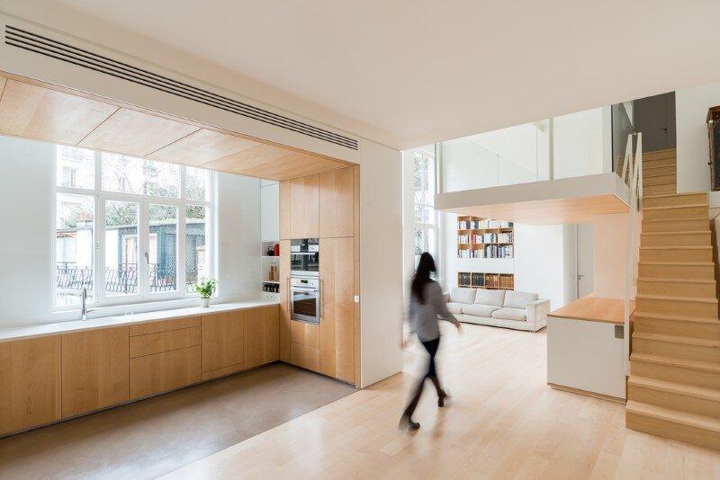 Paris Flat modernized by Julien Joly Architecture 1