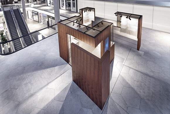 Pop Up Box & Food Corner convertible retail space that offers a customizable presentation area (4)