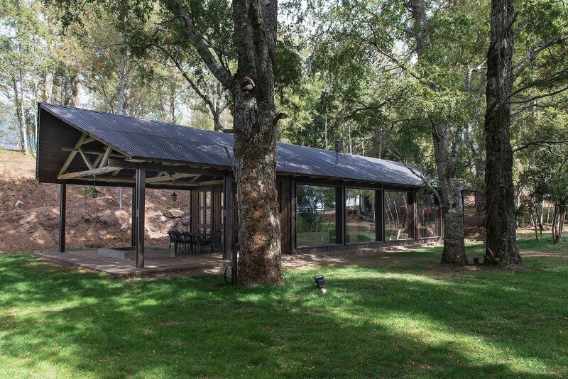 Shed house at Lake Ranco - recycled and converted old barn materials in summer cottage (2)