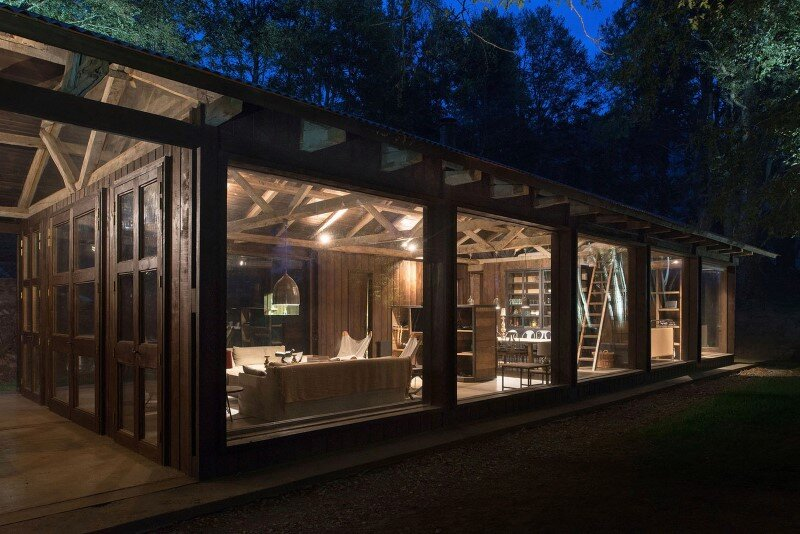 Shed house at Lake Ranco - recycled and converted old barn materials in summer cottage (4)