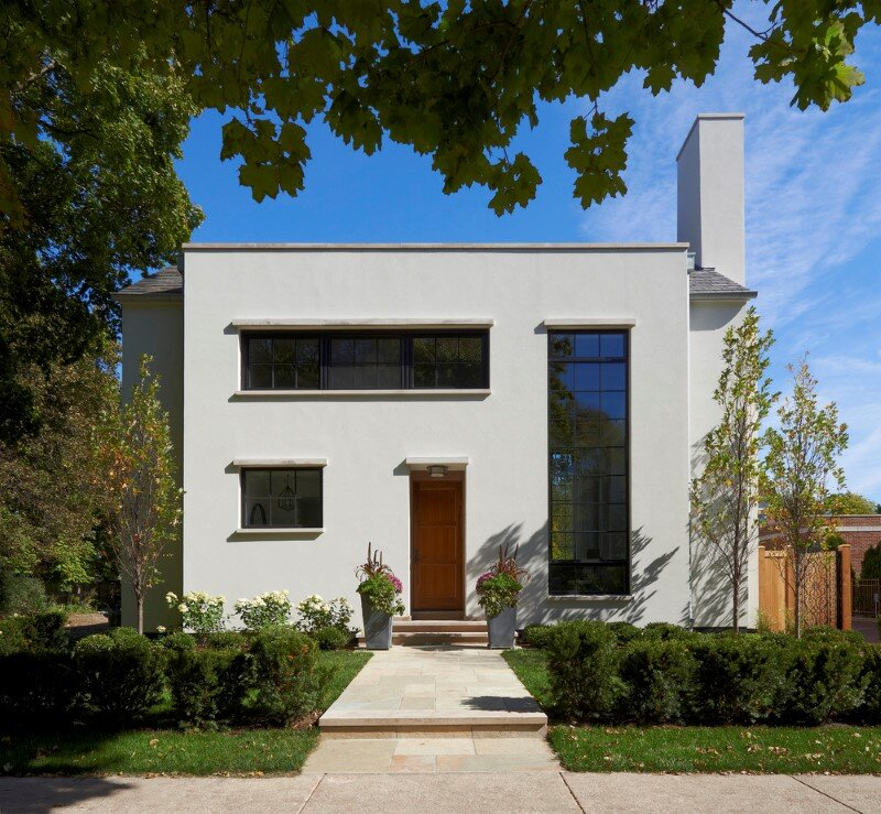 Asbury Residence with traditional architectural forms and modern interiors (1)