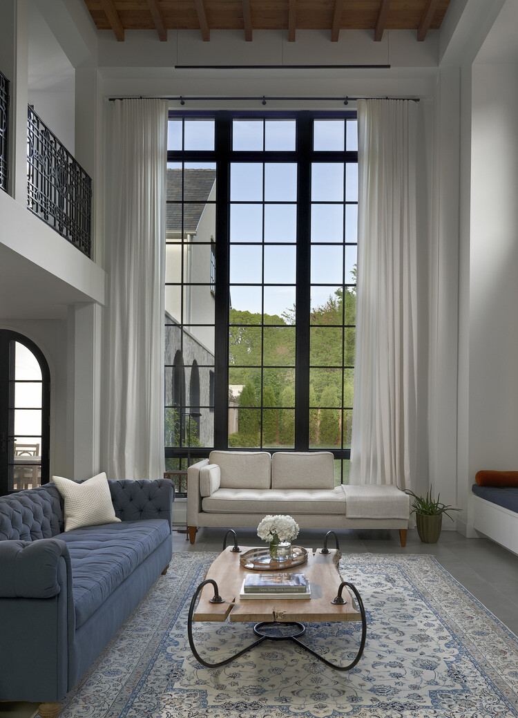 Stately house with traditional architectural forms and modern interiors (14)