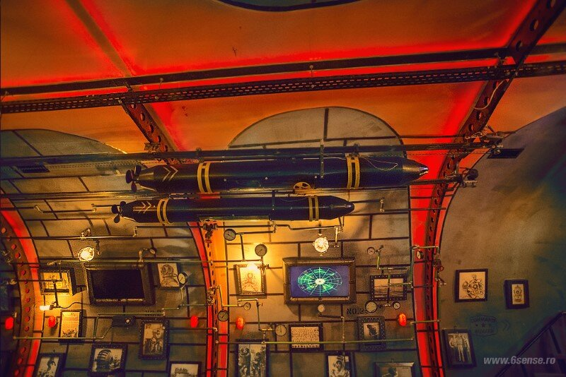 Submarine Pub Designed in Industrial Style with Steampunk Features (11)