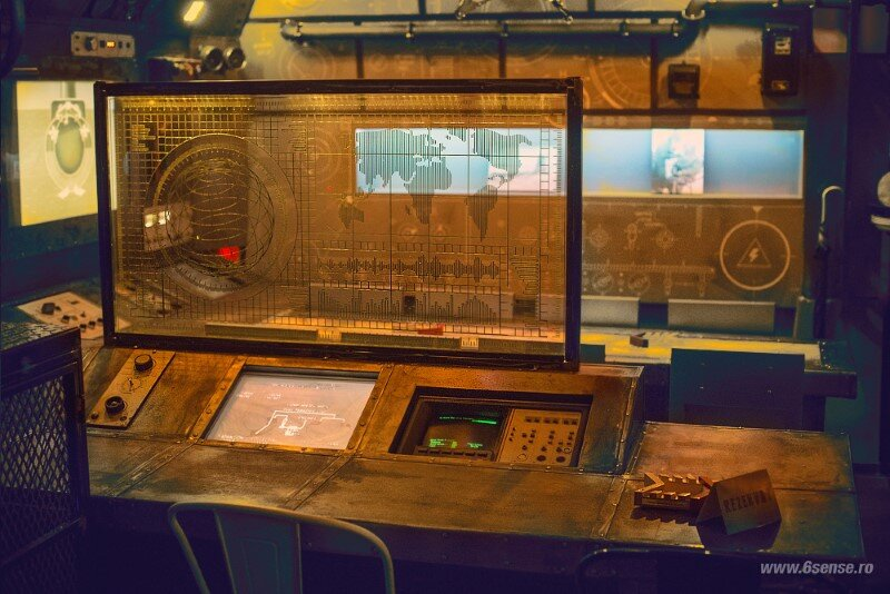 Submarine Bar Designed in Industrial Style with Steampunk Features (17)