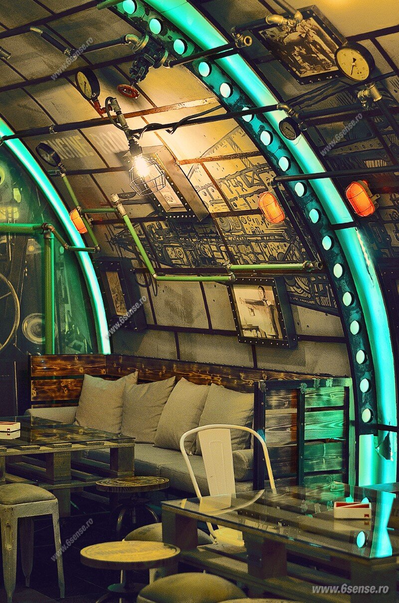 Submarine Pub Designed in Industrial Style with Steampunk Features (22)