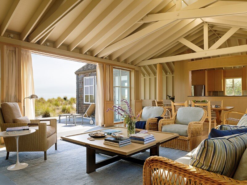 Traditional beach house in northern california stinson for Traditional beach house designs