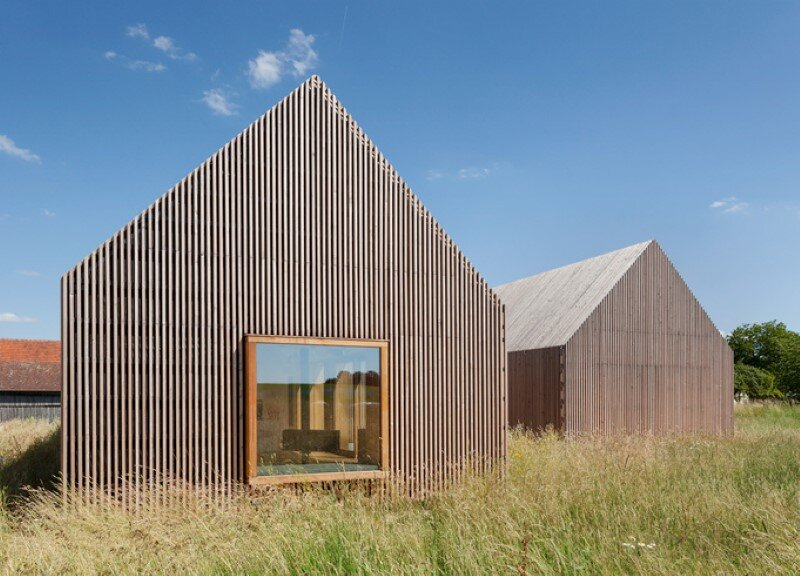 Wohnhaus aus Holz wooden-frame house heated by a geothermal heat pump (5)