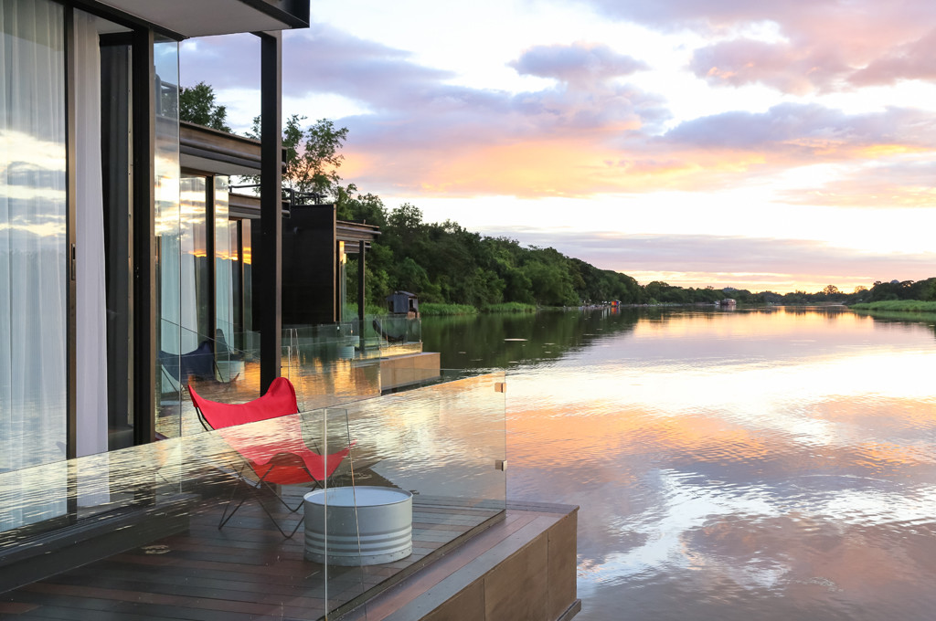 Agaligo Studio have designed - X-Float - a series of floating homes on the River Kwai Bridge, Thailand (14)