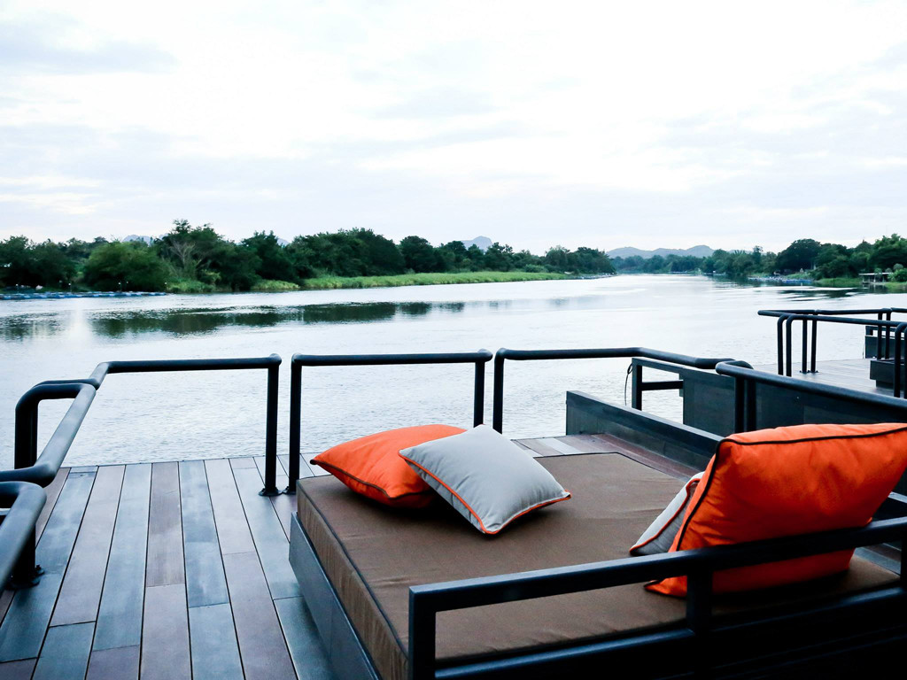 Agaligo Studio have designed - X-Float - a series of floating homes on the River Kwai Bridge, Thailand (7)