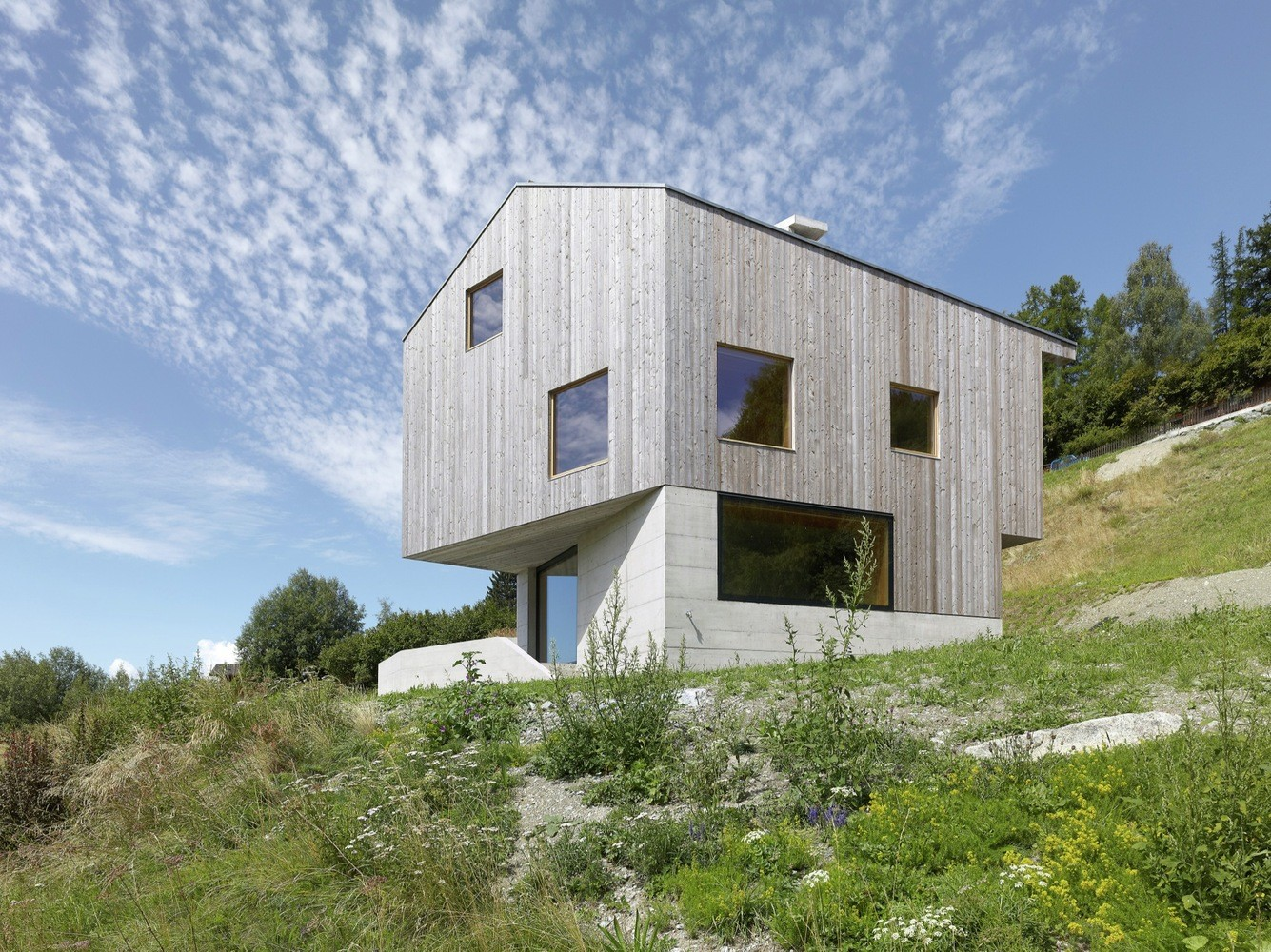 Concrete Cottage Covered with Wood Cladding in the Val d'Hérens (1)