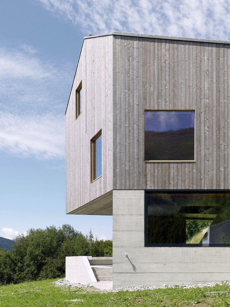 Concrete Cottage Covered with Wood Cladding in the Val d'Hérens (11)