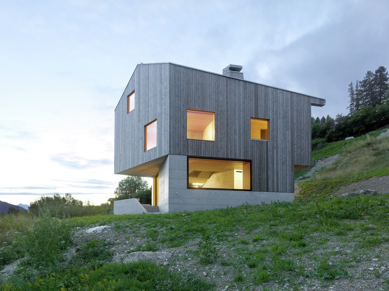 Concrete Chalet Covered with Wood Cladding in the Val d'Hérens (4)