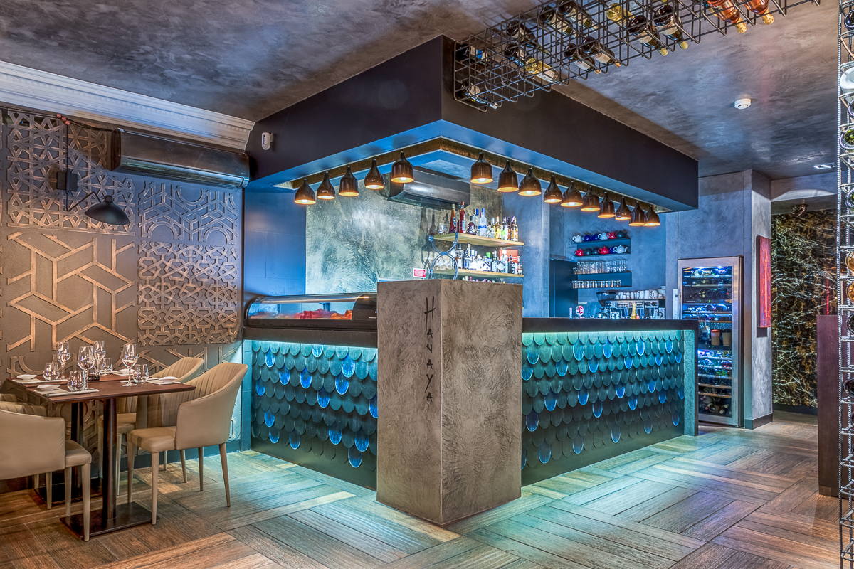 Hanaya Sushi & Gin Bar in Lisbon - Yaroslav Galant Innovative Design (6)