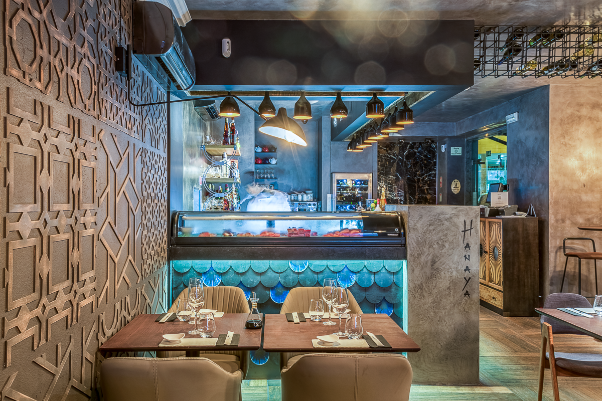 Hanaya Sushi & Gin Bar in Lisbon - Yaroslav Galant Innovative Design (9)