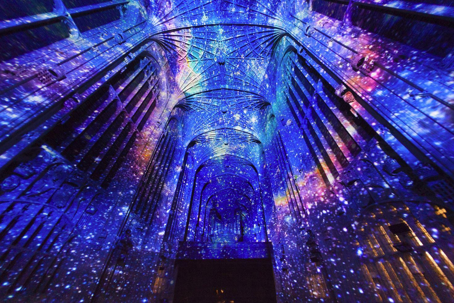 Immersive Projections in King's College Chapel, University of Cambridge (1)